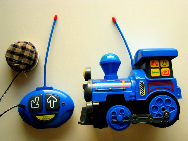 switch adapted remote control toy train