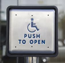 Accessible Icon on door opening button
